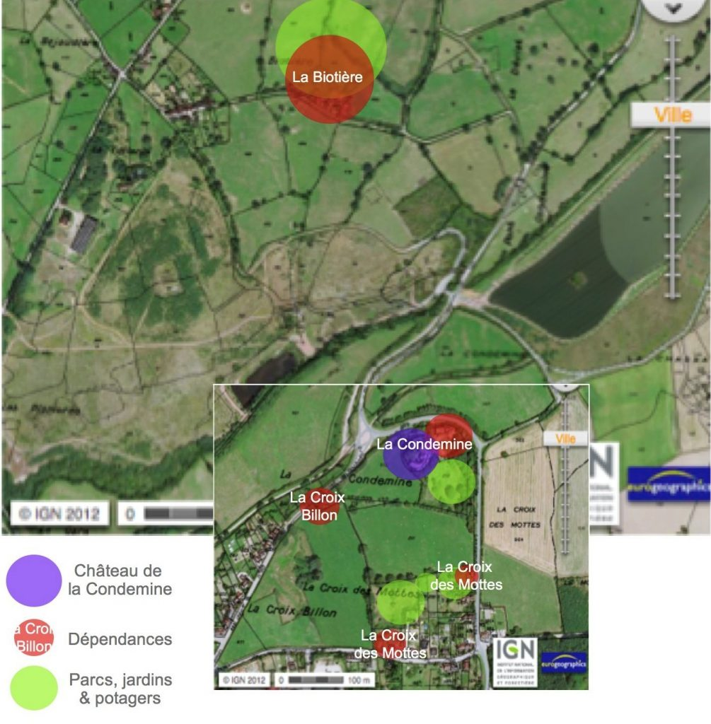 paje plan projet Condemine parc jardin