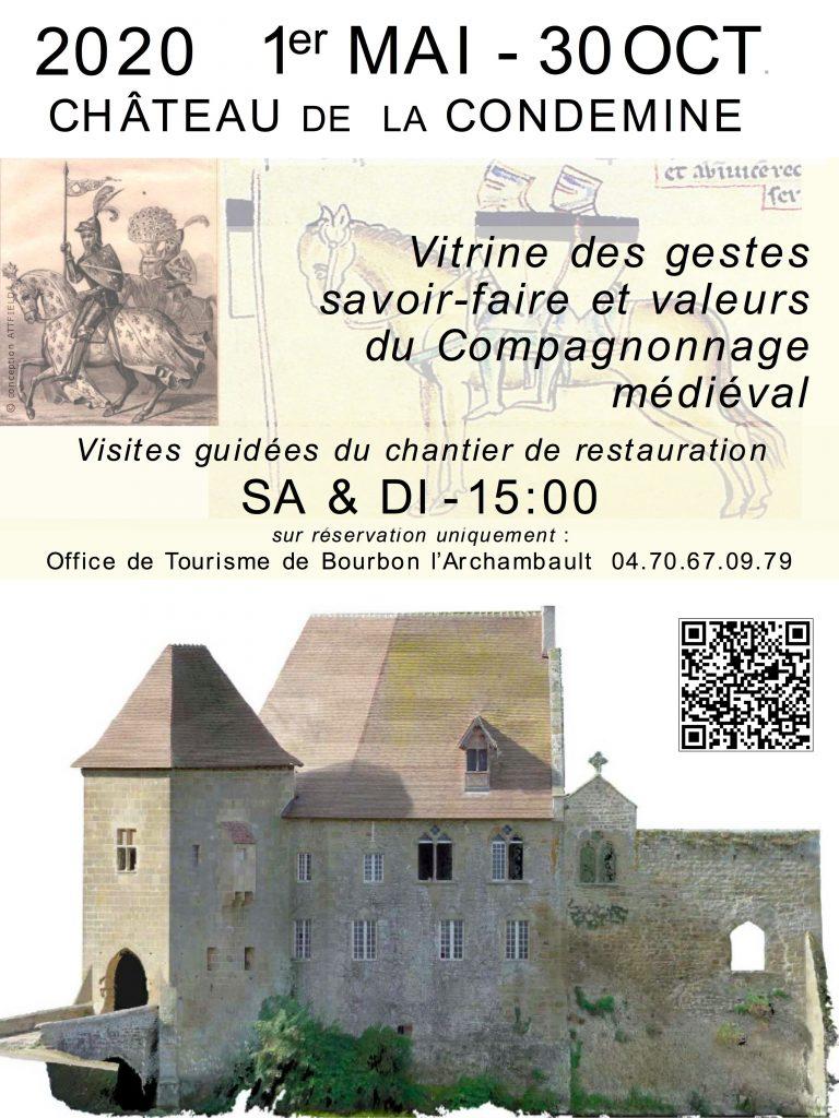 Visites 2020 Chateau de la condemine Buxieres les mines